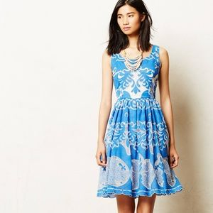 Anthropologie Azure Lace Dress